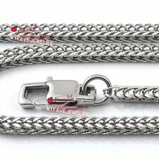 Mens 4mm Stainless Steel Necklace Chain Fox Tail BOX Chain Franco Chain Necklace
