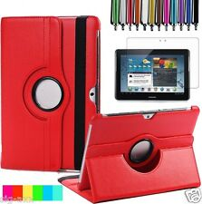 """Leather 360 Rotating Smart Case Cover For Samsung Galaxy Tab 2 10.1"""" P5100 P5110"""