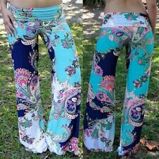 Fashionable Mid-Waisted Floral Print Loose-Fitting Pants For Women