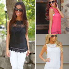 Sexy Women Vest Top Sleeveless Shirt Blouse Summer Casual Ladies Loose Tops 6-20
