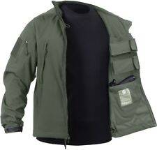 Olive Drab Ambidextrous Military Soft Shell Concealed Carry Tactical Jacket