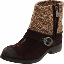 Dr. Scholl's Women's Blade Oxford Brown Suede Fashion Ankle Boots Size 7-10