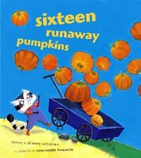 Kids cool paperback gr K-2:Sixteen Runaway Pumpkins-rhyming math story-fun!