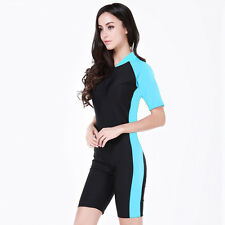 New Woman Short Sleeve Surfing Rash Guard Scuba Suit Swimwear Diving Jump Suit