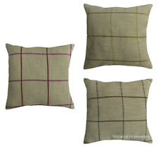 Luxury Quality Linen Cotton Cushion Cover Pink Grey Lime Green Superior Quality