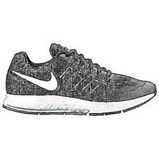 Nike Zoom Pegasus 32 - Boys' Primary Sch. Running Shoes (BK/WT/DK GY/Pure Plati