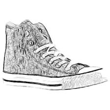 Converse All Star Hi - Boys' Primary School Basketball Shoes (Charcoal)