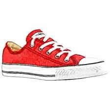 Converse All Star Ox - Boys' Preschool Basketball Shoes (Red)