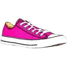 Converse All Star Ox - Women's Basketball Shoes (Pink Sapphire Width:Medium)