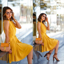 Sexy Women Summer Casual Sleeveless Evening Party Dress Short Mini Dress