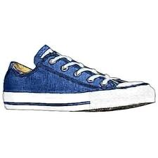 Converse All Star Ox - Boys' Primary School Basketball Shoes (Navy)