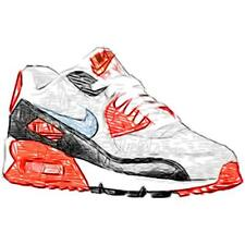 Nike Air Max 90 - Boys' Primary Sch. Running Shoes (WT/Neutral GY/BK/Cool GY)
