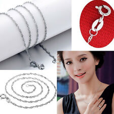 "1Pc Elegant True  Silver Plated ""Water Wave"" Necklaces With Lobster Clasp"