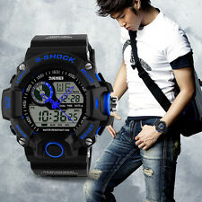 Cool  Mens LCD Digital Date Alarm Waterproof Rubber Sports Army Watch Wristwatch