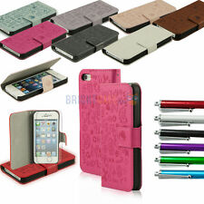 Color Magic Girl Flip PU Leather Wallet Pouch Case Cover For iPhone 5 5S + Gifts