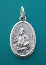 ST GABRIEL of Our Lady of Sorrows Passionist Medal Clip on Charm Pendant Keyring