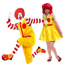 Ronald Clown Or Mrs Mcdonald Comic Con Fancy Dress Costume Cosplay
