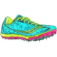 Saucony Shay XC4 Spike - Women's Track & Field Shoes (GN/Citron/PK Width:Medium)