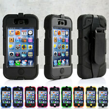 Survival Heavy Duty Shock Proof Tough Case for iPhone 4 & 4S + Belt Clip Holster