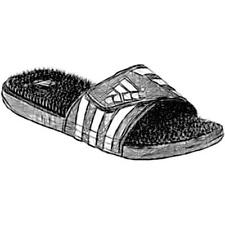 adidas Adissage Slide - Men's Casual Shoes (Black/White Width:Medium)