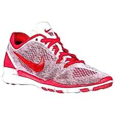 Nike Free 5.0 TR Fit 5 - Women's Training Shoes (White/Gym Red Width:Medium)