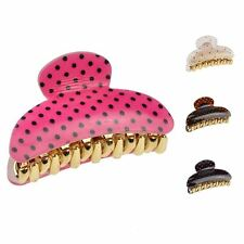 Lady Small Polka Dot Hair Claw Clip Plastic Grip Accessory Clamp - 6cm