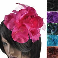 Large Size Cheap Corsage Dress Flower Hair Clip Facinator Brooch Elastic