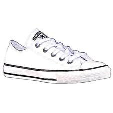 Converse All Star Ox Leather - Boys' Preschool Basketball Shoes (White)