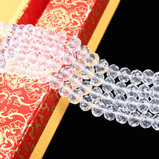 Clear Rondelle Faceted Crystal Glass Spacer Bead Jewelry Finding DIY 6/8/10 MM