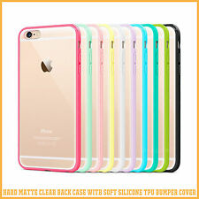Hard Matte Clear Back Case Soft Silicone TPU Bumper Cover for Apple iPhone 6