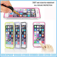 New Shockproof Rugged Hybrid Rubber Hard Cover Case For iPhone 6 4.75.5 Plus SE