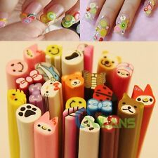 Polymer Clay Fimo Canes Rods Stickers Tips Hot Nail Art Decoration 20 PCS