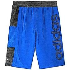 adidas Crazy 8 Basketball Shorts - Boys' Primary School (Blue/Black)