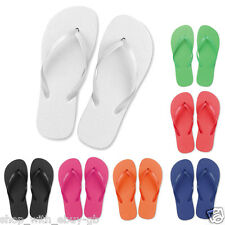 10 X Ladies Flip Flops - PLAIN Beach SPA Sandals - WEDDING Party FAVOUR SHOES
