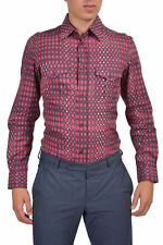 Just Cavalli Men's Multi-Color Long Sleeve Casual Shirt US XS S M