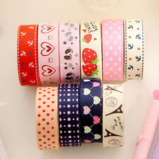 NEW DIY Cute Satin Lace Decorative Tape Adhesive Tape Washi Fabric Tape Stickers