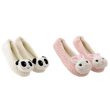 Lady Home Floor Soft Indoor Slippers Outsole Panda Rabbit Cashmere Casual Shoes