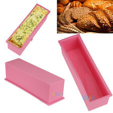 New 1.2L L Rectangle Pastry Toast Bread Loaf Cake Silicone Mold Bake ware