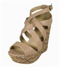 Lustacious Women's Ascent Strappy Sandals Tribal Printed Platform Wedge