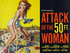 """attack Of The 50ft Woman""..allison Hayes..vintage Movie Poster A1a2a3a4sizes"