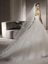 Wedding Veils 3 Meters Ivory White Bridal Gown Veils Accessories Didn't comd