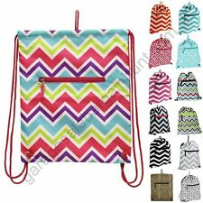 Small Drawstring Backpack Cinch Sack Travel Sling School Tote Gym Bag Dance Pack