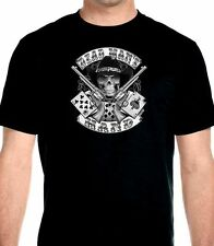 Mens Dead Mans Hand Aces And Eights Cowboy Skull Biker Hanes Beefy-T T-shirt