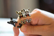 1 Pcs French Cute Bulldog Ring Adjustable Animal Rings for Women Hot Sell Fahion