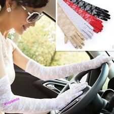 New Lady's Lace Sun Block UV Protection Long Opera Evening Bridal Driving Gloves