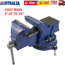 Heavy Duty 3/4/5/6 Cast Iron Bench Vice Workbench Anvil Table Drill Press Clamp