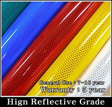 16ft/ RED REFLECTIVE Tape/Sheet/Film/Intensity High Grade/Vinyl/Adhesive/HIP