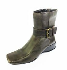Ladies Clarks Madison Jack Brown Leather Zip Up Ankle Boots