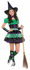 Kids Wicked Cool Witch Girls Halloween Party Fancy Dress Teen Costume Outfit