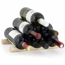 Kikkerland Wine Rack Pine Wood Sticks Stackable Bottle Holder Storage